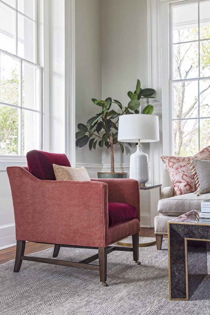 bold william red living room accent chair
