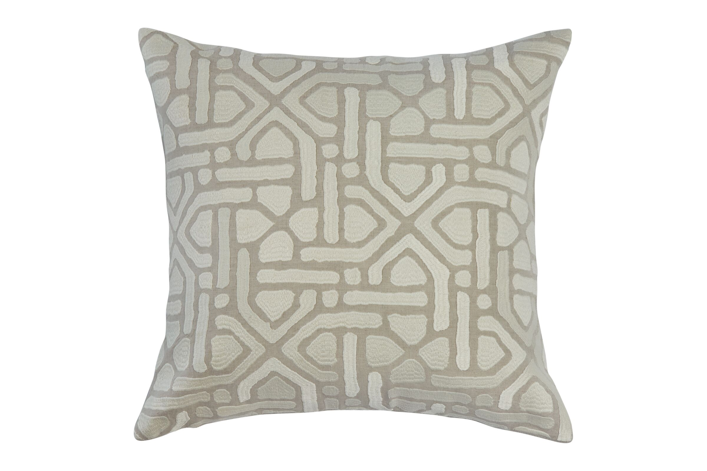 bandhu tan pillow with cream design