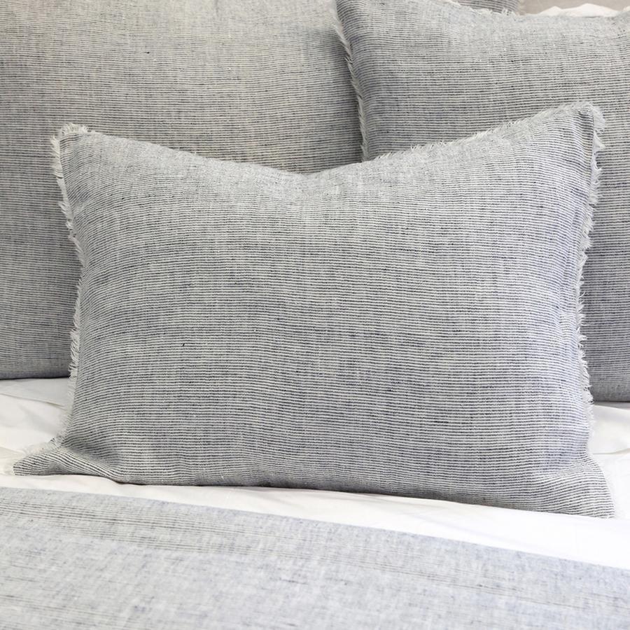gray textured pillow