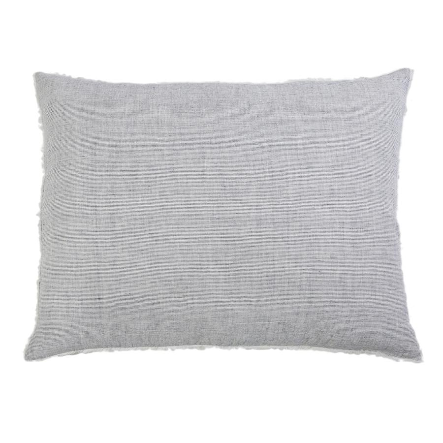Logan King Euro Pillow with frayed edges