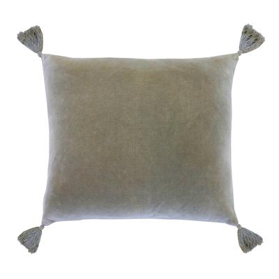 Soft velvet Bianca Velvet Tassel pillow with soft tassels