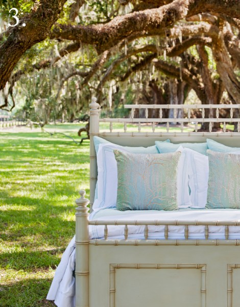 under the oaks bed shot painted cream bed white and auq bedding