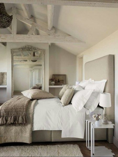 tall neutral headboard