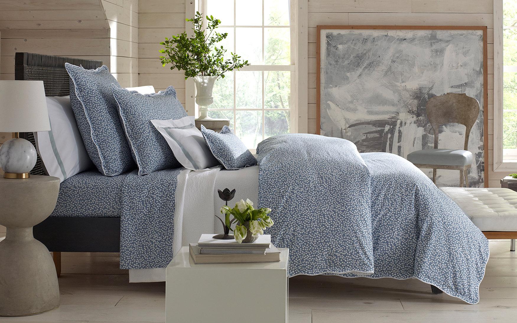margot blue white patterned duvet