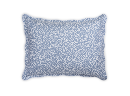 blue patterned pillow sham