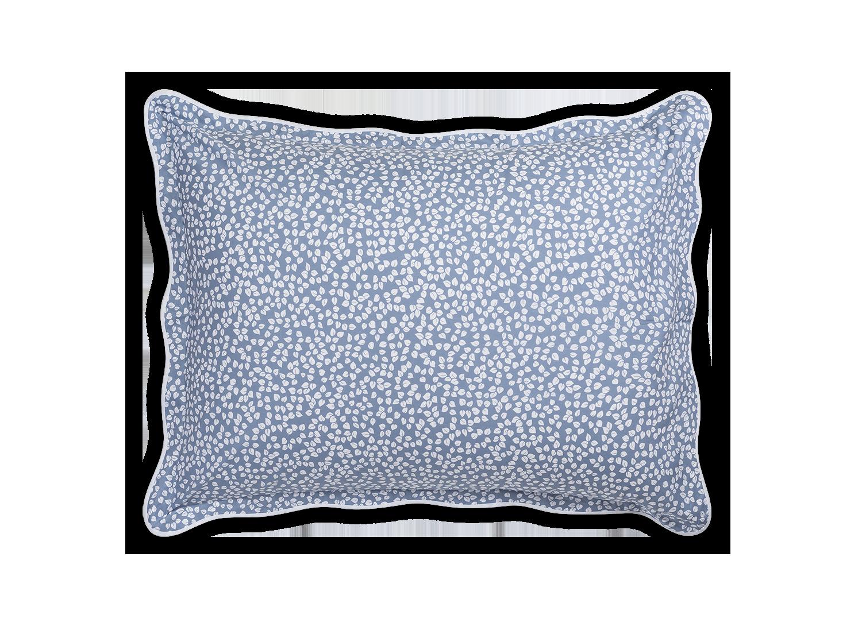 blue patterned pillow sham