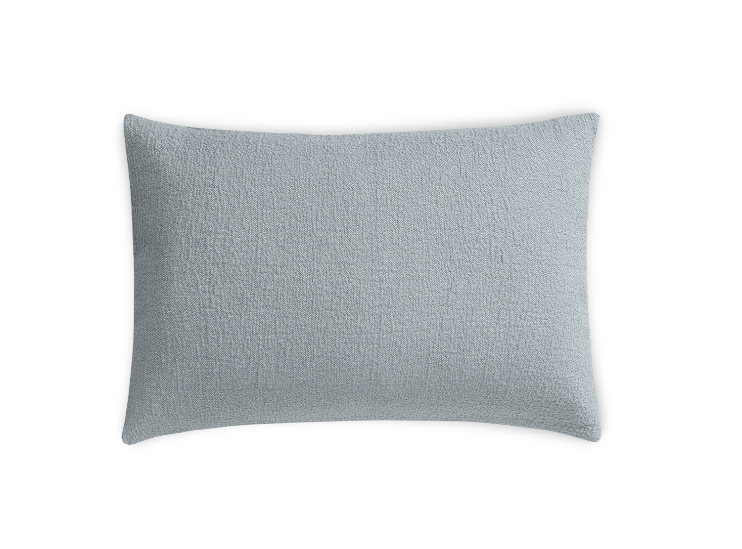 sea foam green textured pillow sham