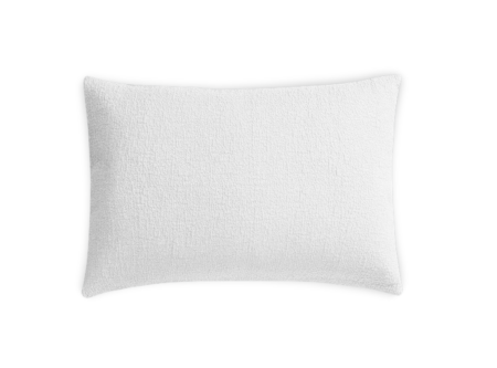 white textured pillow sham
