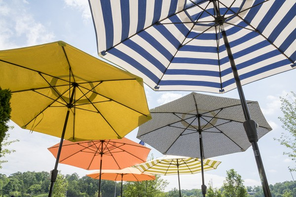 Umbrellas can be special ordered in so many different fabrics. We also carry several in store options
