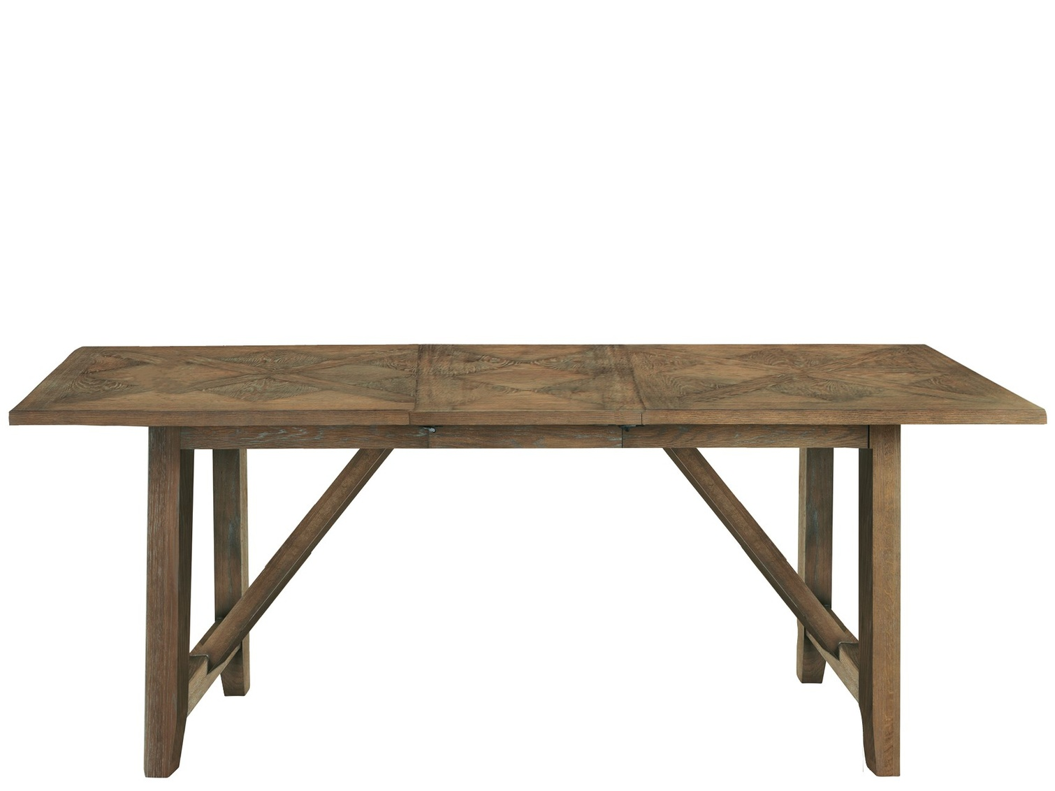 wooden kitchen table with extension