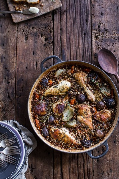 One-Pot Autumn Herb Roasted Chicken with