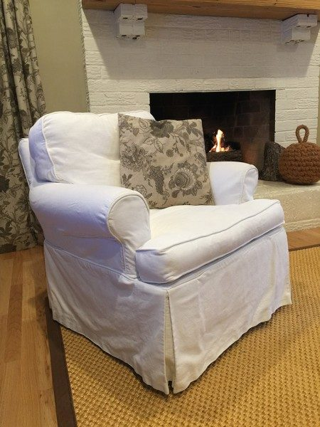 15 year old slipcovered, swivel glider from Lee Industries still in like new condition.
