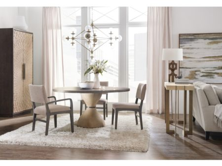 modern botticelli round dining table with hourglass shape base