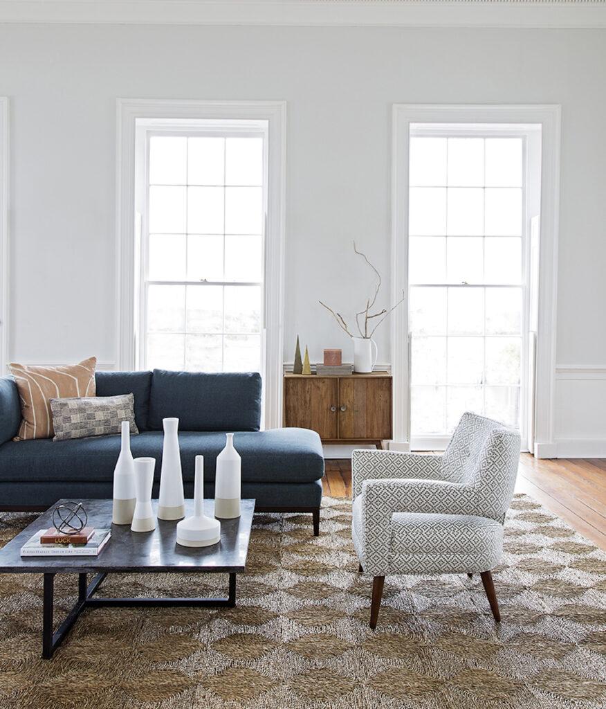 Modern Transitional Upholstery in Living Room