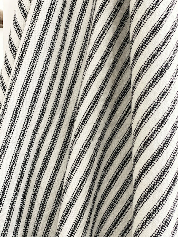 Weathered Ticking Black by the Yard Fabric GDC Home