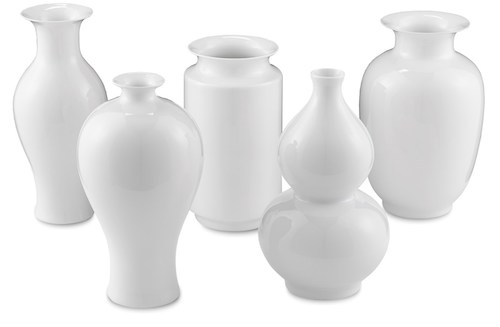 Imperial White Vase Set GDC Home